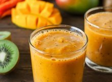 A Smoothie With Mango, Carrots and Kiwi