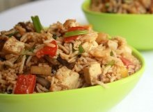 Thai Vegetable Rice With Tofu and Pineapple A Delicatesse